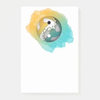 Post-it® yin d'or de turquoise et volleyball de yang son