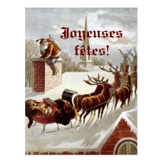 Postales de cartes de traîneau et de renne d'avec