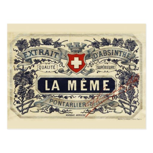 Postcard Absinthe tiroir Même Cartes Postales