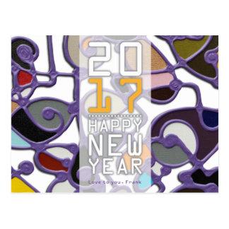 Postcard, la carte de lettre, 2017 Happy New Year