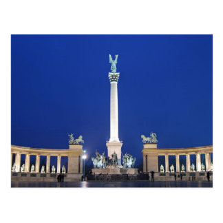 Postcard Millenium Monument in Budapest, Hungary Cartes Postales