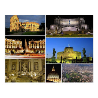 Postcard Rome Monuments, Italy Carte Postale
