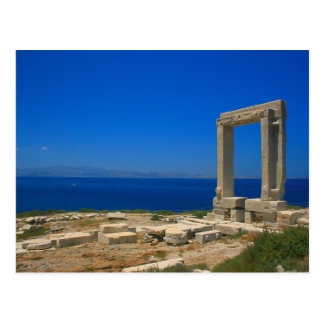 Postcard Ruins from Temple of Apollo on Naxos Carte Postale
