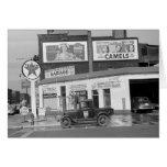 Poste d'essence de port de Benton, les années 1940 Carte De Vœux