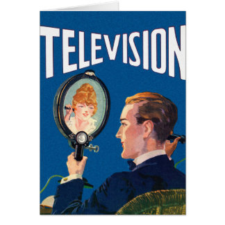 Poste TV de kitsch de téléphone intelligent tôt Carte De Vœux