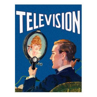 Poste TV de kitsch de téléphone intelligent tôt Carte Postale