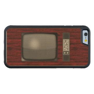 Poste TV de rétro cru Coque iPhone 6 Bumper En Érable