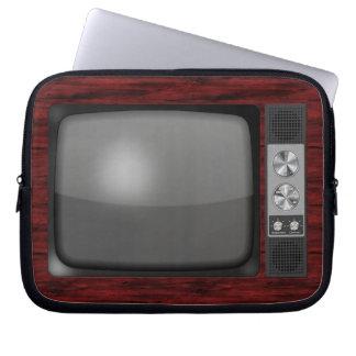 Poste TV de rétro cru Housse Ordinateur Portable
