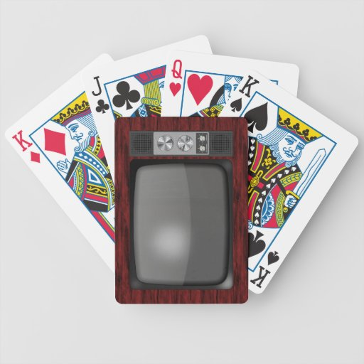 Poste TV de rétro cru Jeu De Cartes Poker