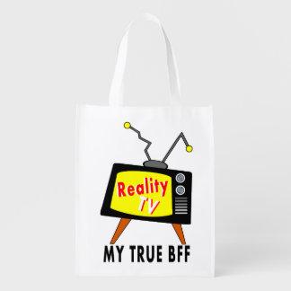 Poste TV démodé ma réalité TV Reuseable de BFF Cabas Épicerie