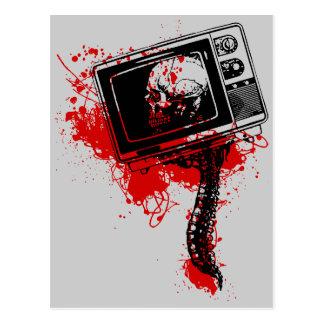 POSTE TV MORT CARTE POSTALE
