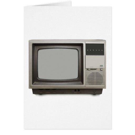 poste TV vintage Cartes De Vœux