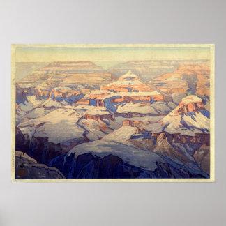 Poster キャニオン de ・ de グランド, canyon grand, Yoshida, gravure
