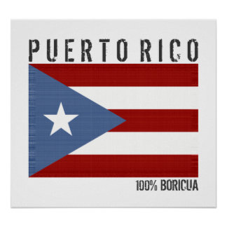 Poster 100 pour cent Boricua, Porto Rico