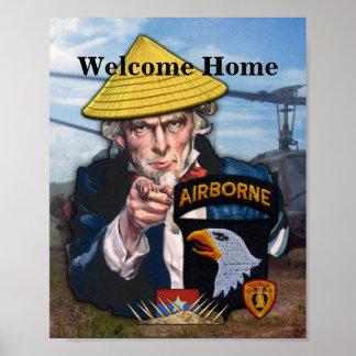 Poster 101st La division Vietnam aéroporté d'ABN contrôle