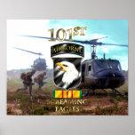 Poster 101st Vétéran v2 du Vietnam de Division Aéroportée
