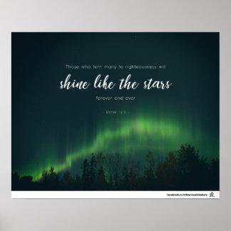 Poster 12:3 de Daniel - éclat comme les étoiles