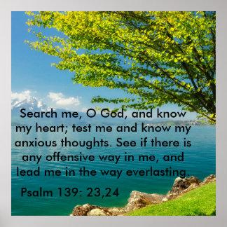 Poster 139:23 de psaume - 24