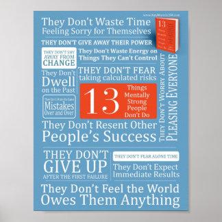Poster 13 personnes mentalement fortes de choses ne font