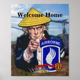 Poster 173rd Soldats Vietnam de ciel de brigade