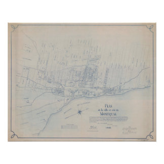 Poster 1801 Plan of Montreal