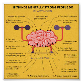Poster 18 personnes mentalement fortes de choses font