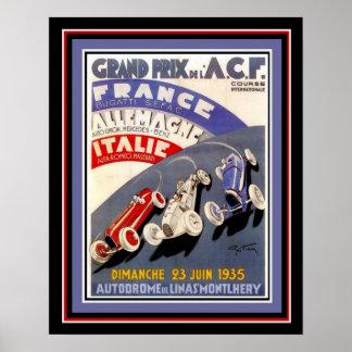 Poster 1935 Grand prix 16 x affiche 20