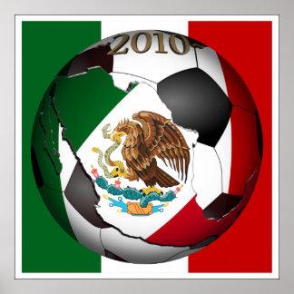Poster 2010 ballon de football - Mexique