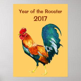 Poster 2017 nouvelles années chinoises de l'affiche rouge