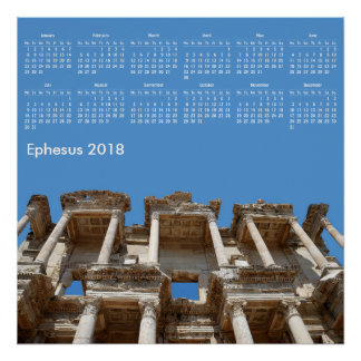 Poster 2018 calendrier Ephesus, Turquie