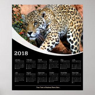 Poster 2018 calendriers de égrappage d'affiche de faune