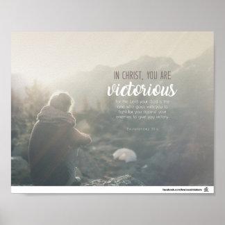Poster 20:4 de Deuteronomy - vous êtes victorieux