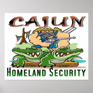 """Poster 20"""" x 16"""" AFFICHE de sécurité de patrie de Cajun"""