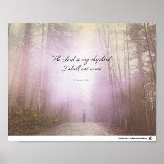 Poster 23:1 de psaume - le seigneur est mon berger