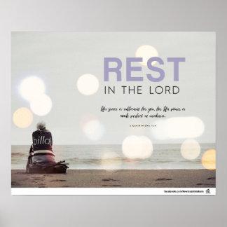 Poster 2 12:9 de Corinthiens - repos dans le seigneur