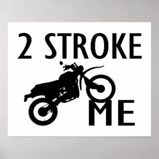 Poster 2 frottez-moi vélo de saleté