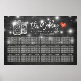 Poster 30+ Tableaux épousant des lumières de pot de maçon
