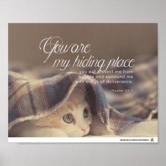 Poster 32:7 de psaume - vous êtes ma cachette