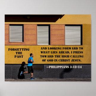 Poster 3h13 de Philippiens - presse 14 vers appeler élevé