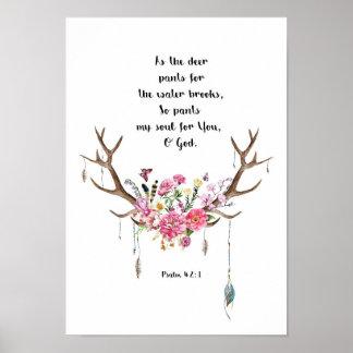Poster 42:1 de psaume