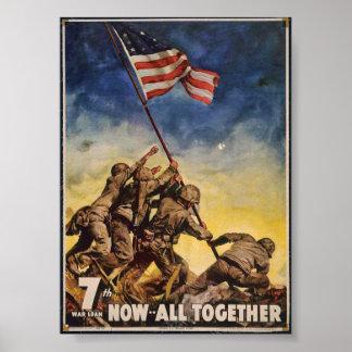 Poster 7ème Prêt de guerre, maintenant… Tous ensemble -