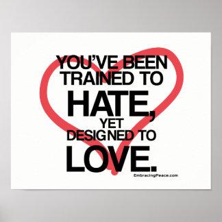 Poster A conçu pour aimer