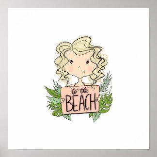 Poster À la plage