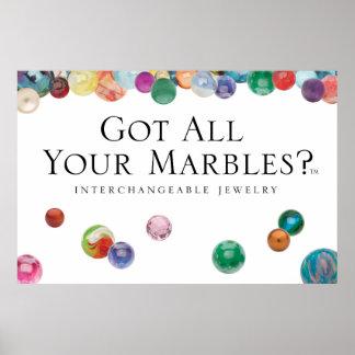 Poster A obtenu tous vos marbres ? Affiche