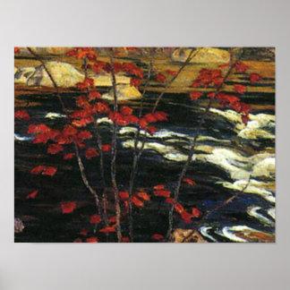 Poster A.Y. Jackson - érable rouge