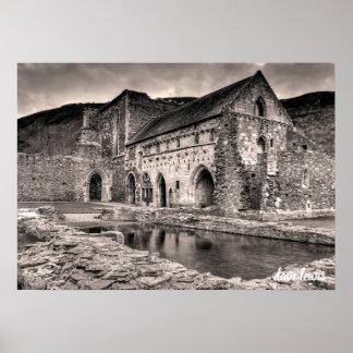 Poster Abbaye de Llangollen (noir/blanc)