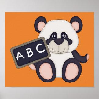 Poster ABC instruisent l'affiche de panda (l'arrière -