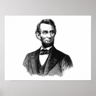 """Poster Abraham Lincoln 1865 """"le grand émancipateur """""""