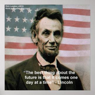 """Poster Abraham Lincoln affiche de """"1 étape à la fois"""""""