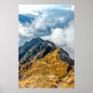 Poster Abri dans les montagnes